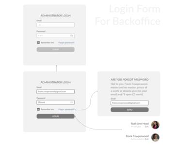 Backoffice Form web design minimalism ux design ui figma design