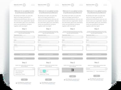 User flow for mobile cards minimalism ux design web design figma design