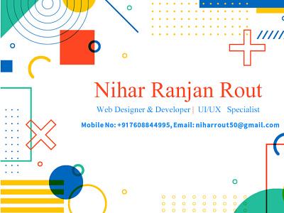 Nihar Ranjan Rout visiting card design visiting card