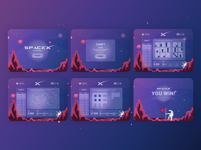 SpaceX Web Game game art ui ux ui uiux game design spacex game ui