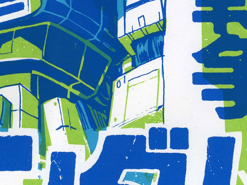 Hero 08 Tease hero screenprint versus versusartproject illustration print analog
