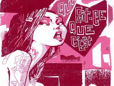Psycho Killer screenprint illustration psycho killer talking heads love for sale