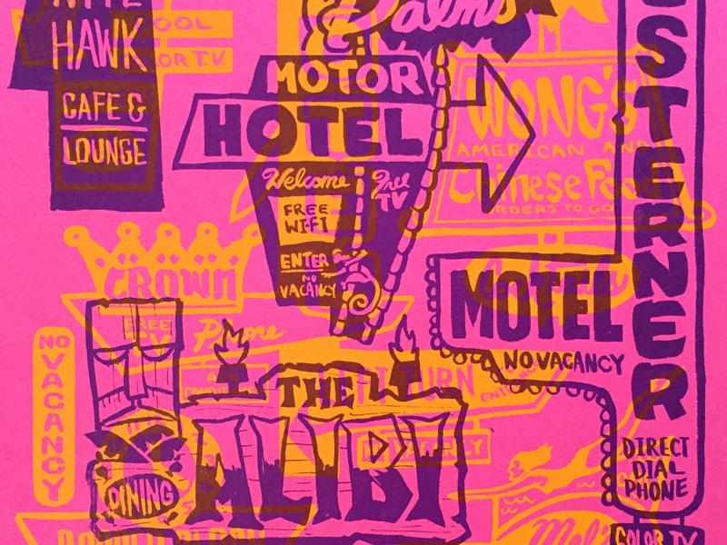 Preserve Poster interstate illustration screenprint preserve overlook portland midcentury signs