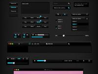 BlackUI v1 — Free PSD Source