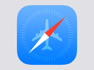 Offline Pages Icon offline pages browser safari airplane blue compas ios ios7 icon