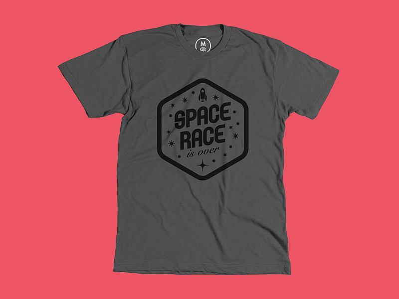 Space Race T-Shirt space race tshirt t-shirt gray cottonbureau black