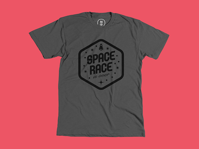 Space Race T-Shirt space race tshirt t-shirt gray cottonbureau black