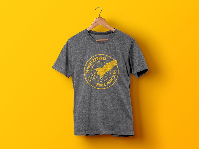 Futurama T-Shirt gray tshirt yellow futurama
