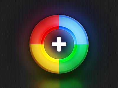 Google+ google plus icon shiny round retina wallpaper