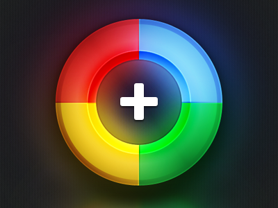 Google+ google plus icon shiny round retina wallpaper