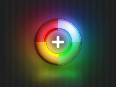 Shiny Google+ google plus icon shiny round