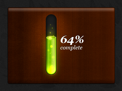 Toxic progress bar 3D toxic progress bar green waste bubbles wood 3d