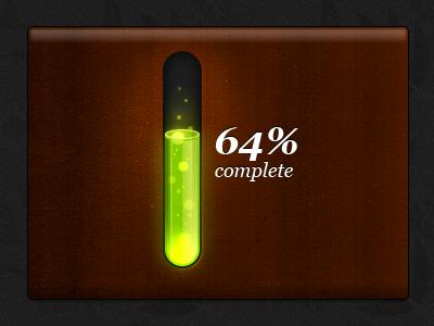 Toxic progress bar 3D toxic progress bar green waste bubbles wood 3d