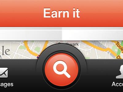 Search search map tab bar orange