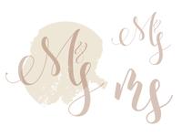 WIP of a Wedding logo