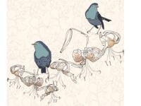 Tiger Lily birds