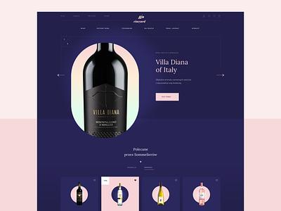 Wine shop wine e-commerce www icons illustration design shop ecommerce website web ux ui
