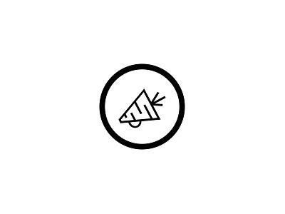 Logo Mark icon graphic design identity carrot communication health megaphone nutrition