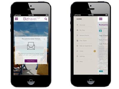 Biztravel app ui ux graphic design travel business