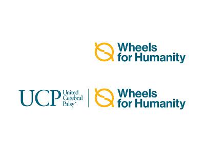 UCP Wheels for Humanity Logo logo concepts ngo circle motion san-serif font neue haas grotesk display std