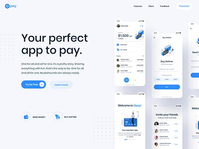 Finance app design app ui ui  ux illustraion android ios app design app ux web hero landing website design