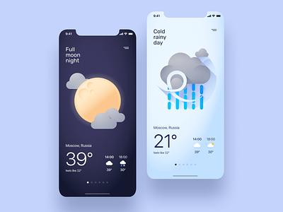 Weather App mobile mobile app ios app application android ios app designer app design app ui flat ux design