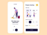Cleaning company app mobile design design mobile android app ios app app design app