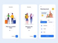 Travel planning app ux uiux mobile ui ui ios app ui android app ui app ui design android app ios app app design mobile design mobile app app travel app