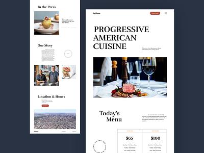 luthun light clean minimal web design ui flat ux web landing website design