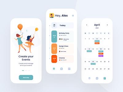 Events App app for events ios app design events app android app design ios flat ui design minimal clean ux design app ui mobile app uiux ui