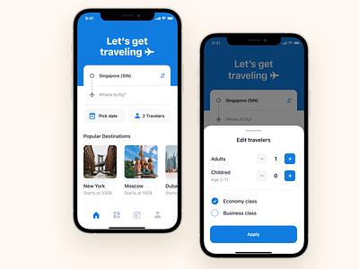 Flight Booking iOS App ux ui mobile design app design mobile android ios mobile app travel app flight flight booking ios app