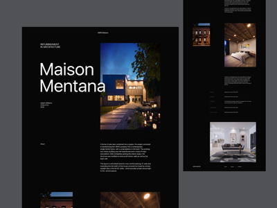 Maison  Mentana architecture website website design web design webdesign minimal design ui flat ux website landing web hero design