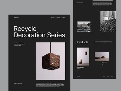 Recycle Series webdesign web design website design clean minimal