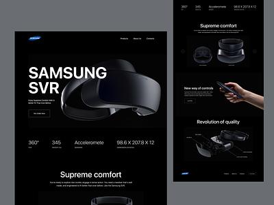 SAMSUNG  SVR landing page design webstie website design web design clean minimal