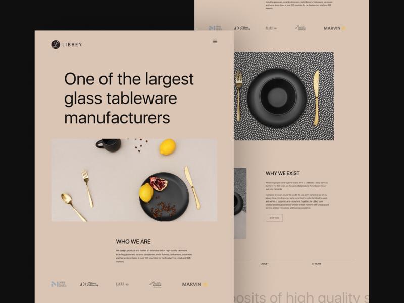 LIBBEY landing design web design clean minimal website