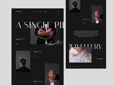 JEWELLERY minimal web design web website jewellery website design