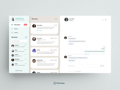 Whatsapp Redesign Day 2