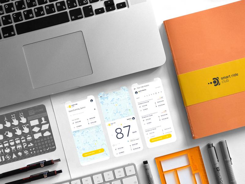 Smart Ride App UI Design