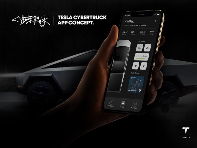 Tesla Cybertruck App Concept