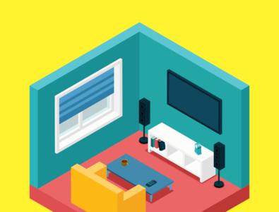 3d room vector design illustration