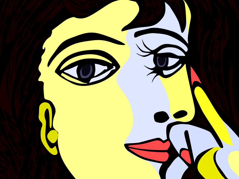 Picasso S Dora Maar picasso 2d famouspainting illustration vector digital