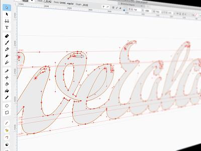 Weralav process cute fontlab lettering weralav