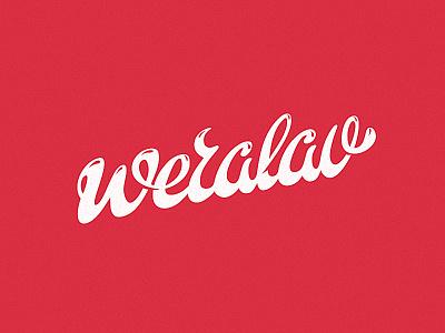 Weralav pink hand wood cute fontlab lettering weralav