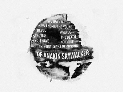 Death Star /  Watercolor Letering process death star starwars lettering watercolor darthvader brush black calligraphy typography prints
