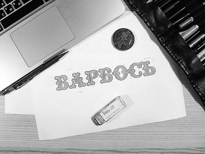 Barbos Lettering animals vintage branding logo cyril mikhailov men dogs beard logotype lettering барбос barbos