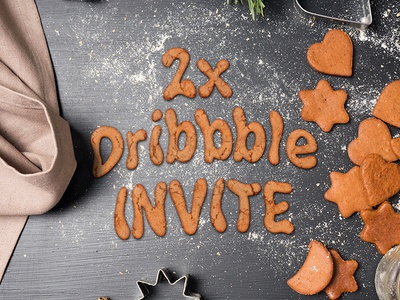 Dribbble invites kitchen table cookies invites dribbbleinvite invite