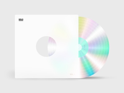 Vinyl Records 💽 vinyl cover vinyl record holography holographic white vector branding typography ui flat design figma