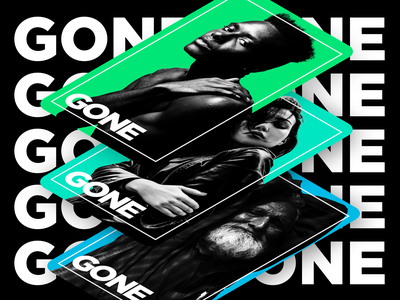 Gone | Sketch 2020 2019 cards cc photoshop typography branding figma design