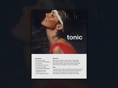 Tonic gin tonic krone lemon adv 80s tonic olivia poster