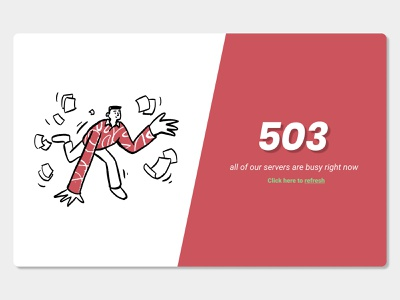 Server Busy 500 error web design website error page error server error server